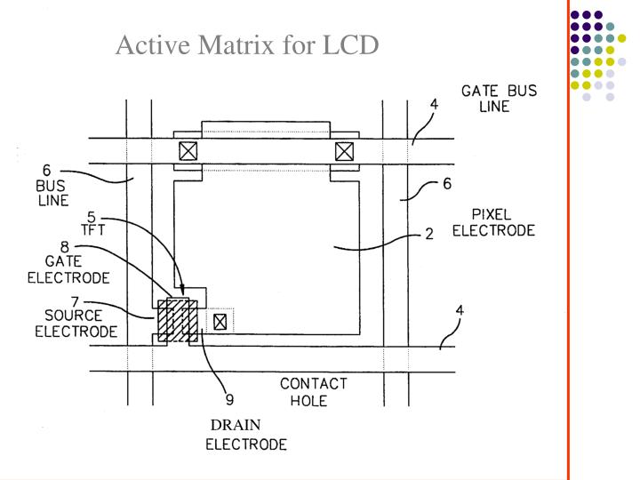 Active Matrix for LCD