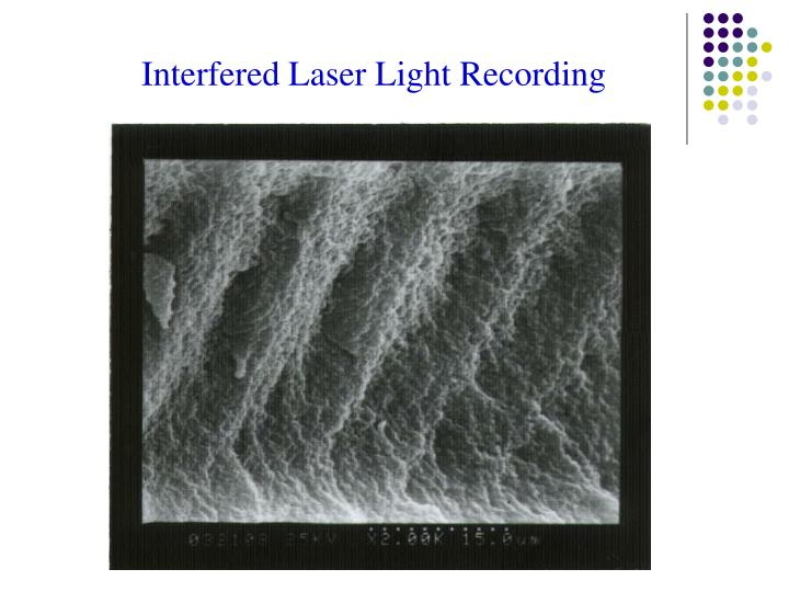 Interfered Laser Light Recording