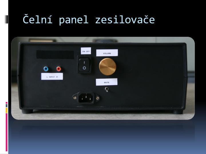 Čelní panel zesilovače