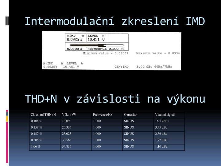 Intermodulační zkreslení IMD