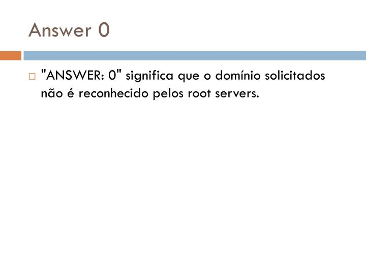 Answer 0