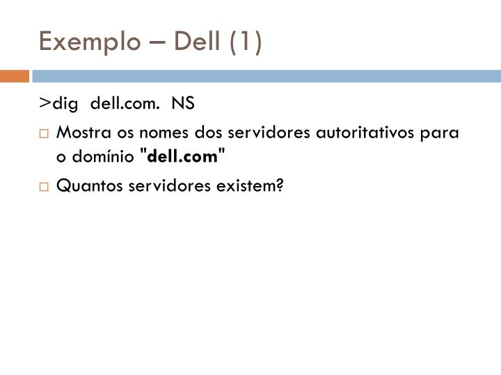 Exemplo – Dell (1)