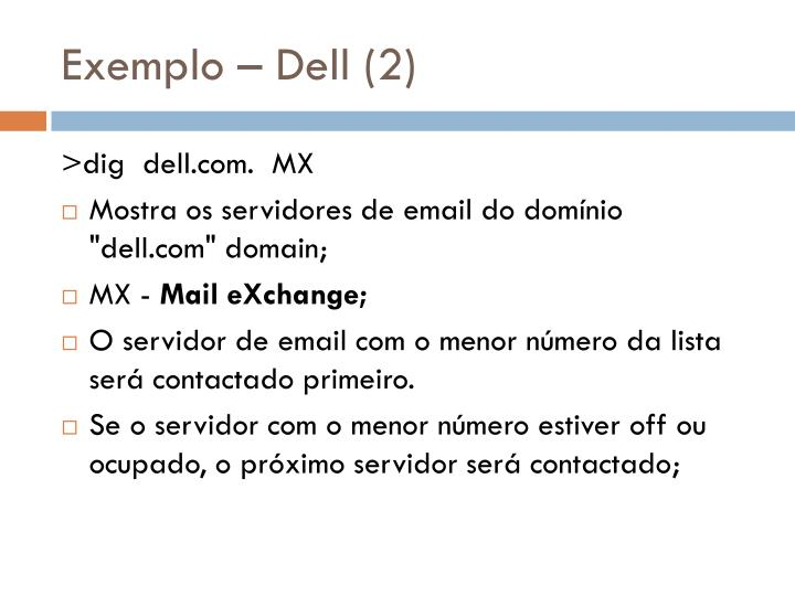 Exemplo – Dell (2)