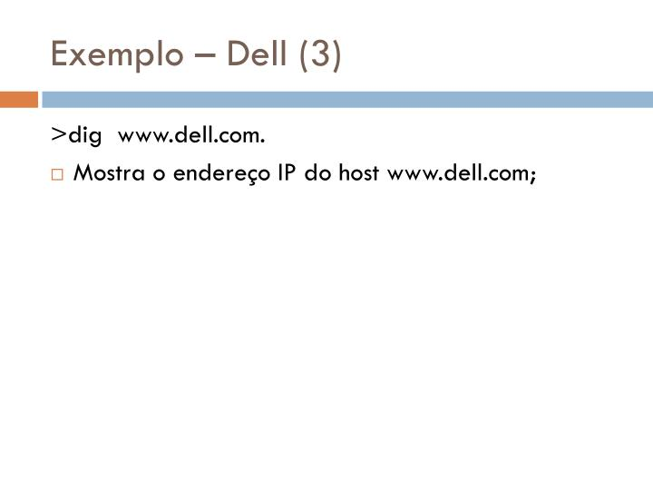 Exemplo – Dell (3)
