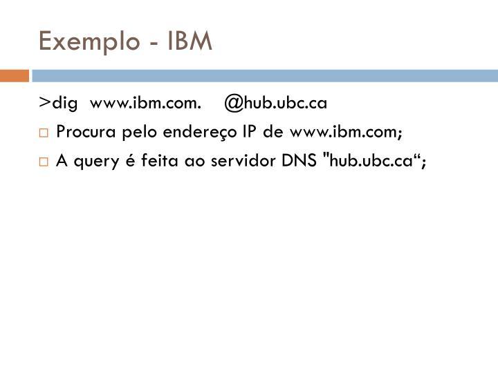 Exemplo - IBM