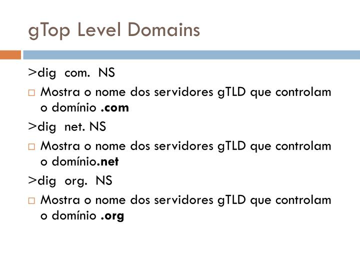 gTop Level Domains