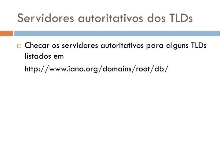 Servidores autoritativos dos TLDs