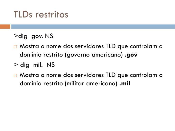 TLDs restritos
