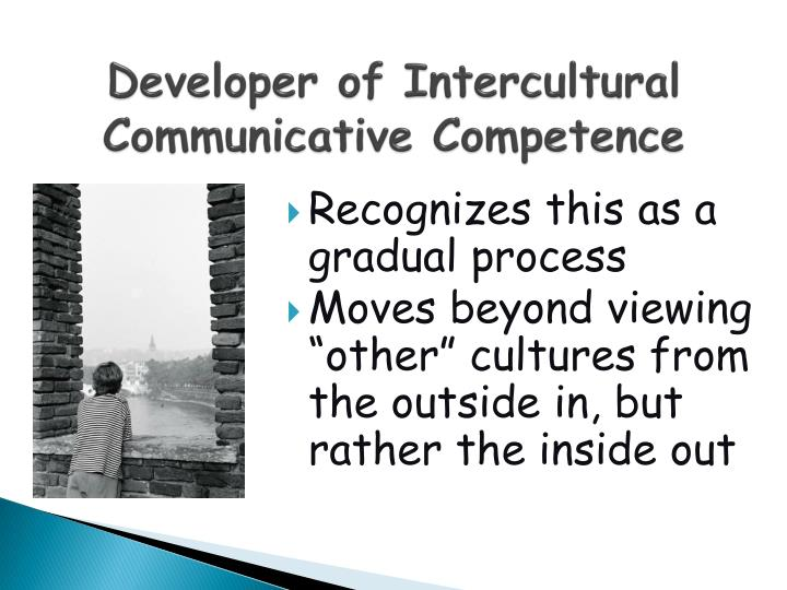 Developer of Intercultural Communicative Competence