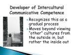 developer of intercultural communicative competence