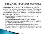 ejemplo leyendo cultura