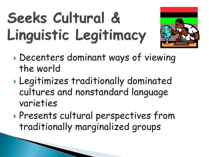 Seeks Cultural &