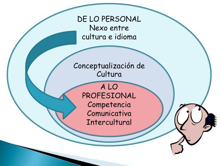 DE LO PERSONAL
