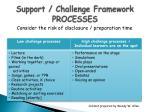 support challenge framework processes
