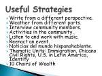 useful strategies