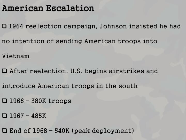 American Escalation
