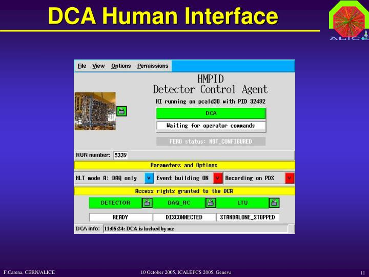DCA Human Interface