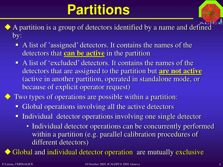 Partitions
