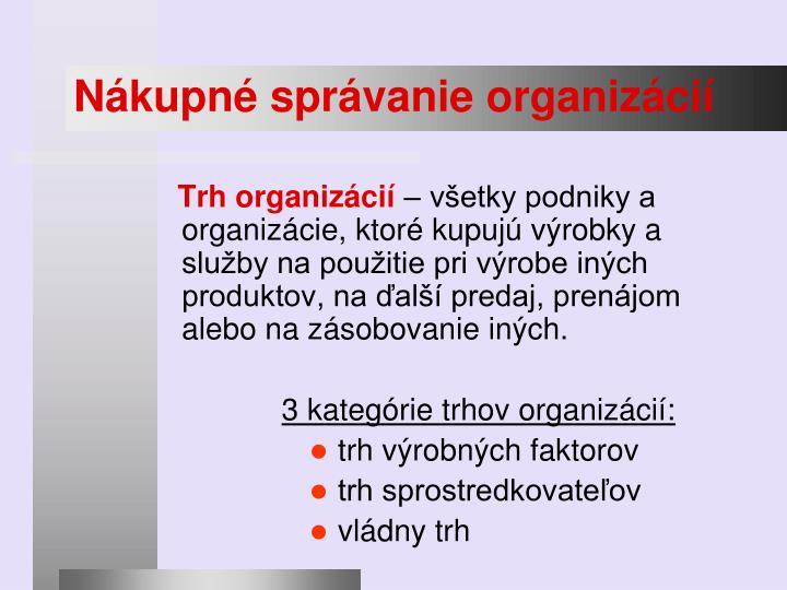 Nákupné správanie organizácií