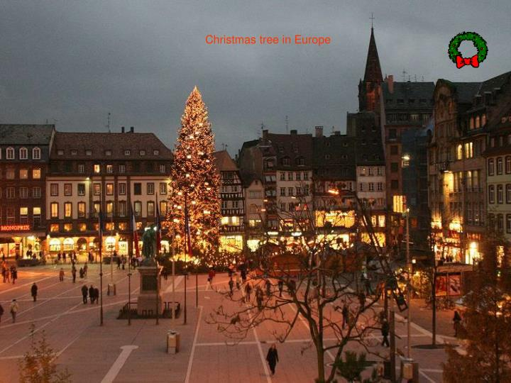 Christmas tree in Europe