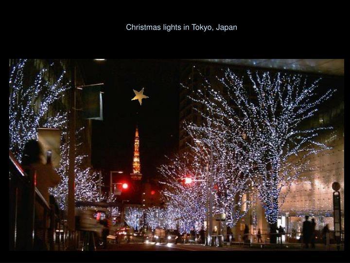 Christmas lights in Tokyo, Japan