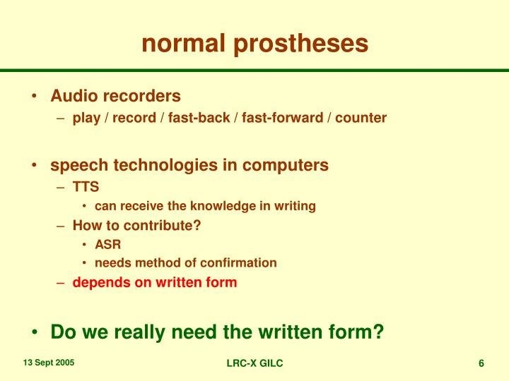 normal prostheses
