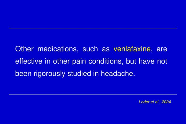 Other medications, such as