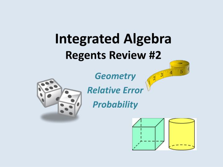 Integrated algebra regents review 2