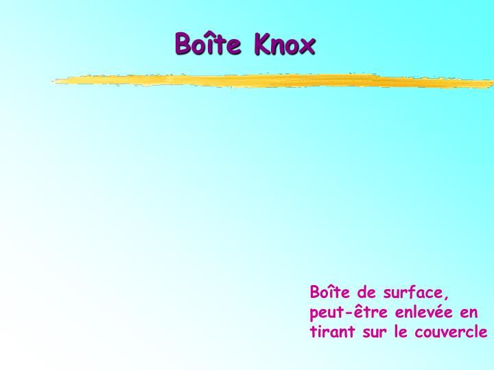 Boîte Knox