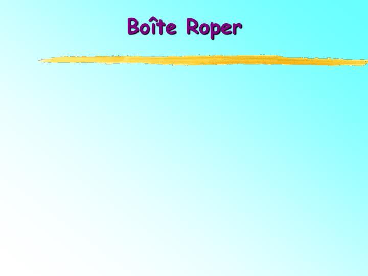 Boîte Roper