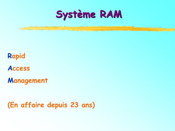 Système RAM