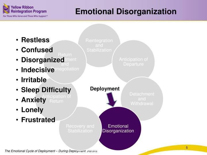 Emotional Disorganization