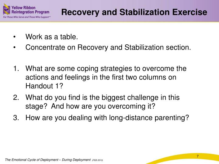 Recovery and Stabilization Exercise