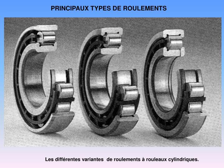 PRINCIPAUX TYPES DE ROULEMENTS