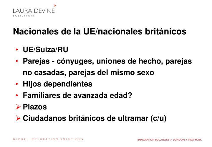 Nacionales de la UE/nacionales británicos