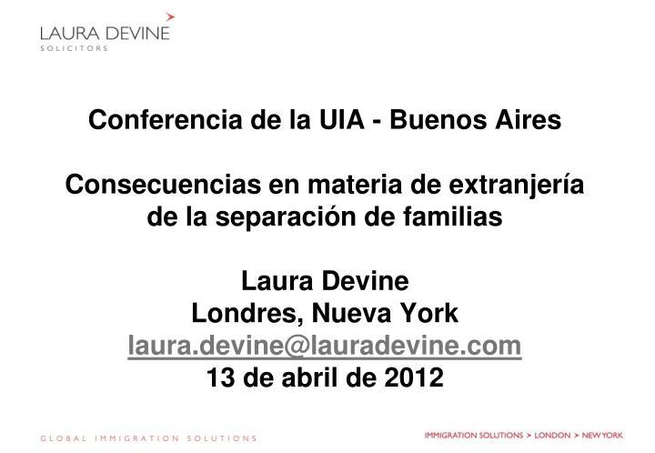 Conferencia de la UIA - Buenos Aires