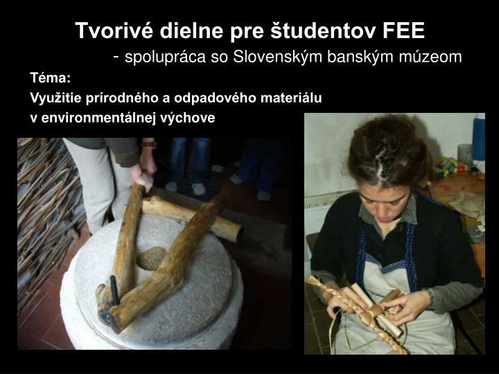 Tvorivé dielne pre študentov FEE