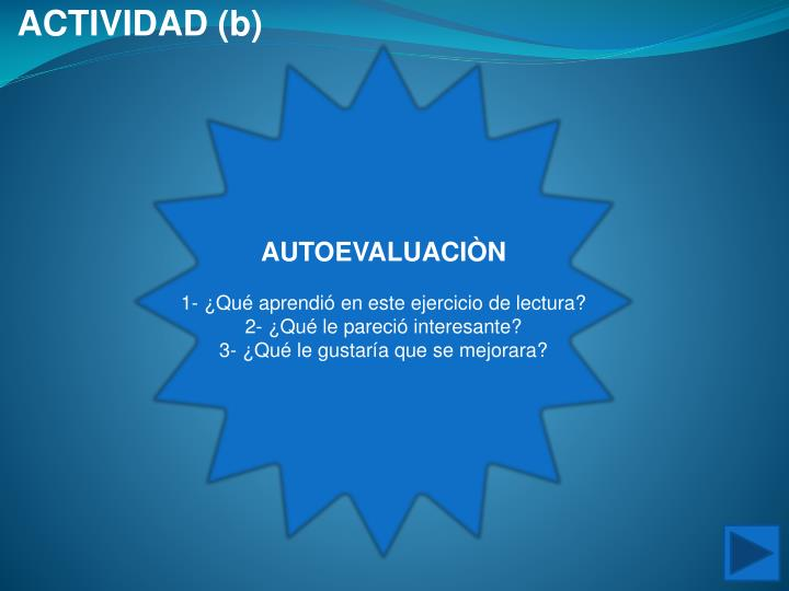 ACTIVIDAD (b)