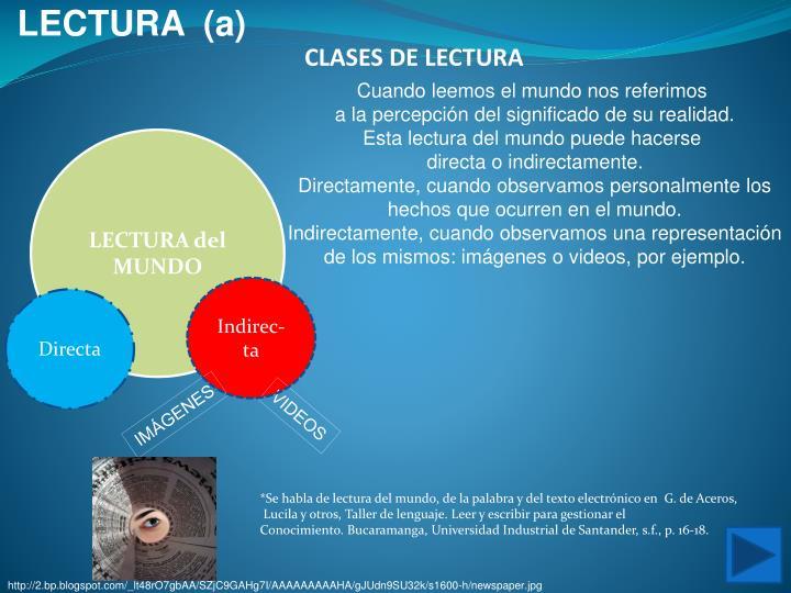 LECTURA  (a)