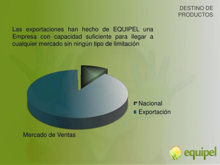 DESTINO DE PRODUCTOS