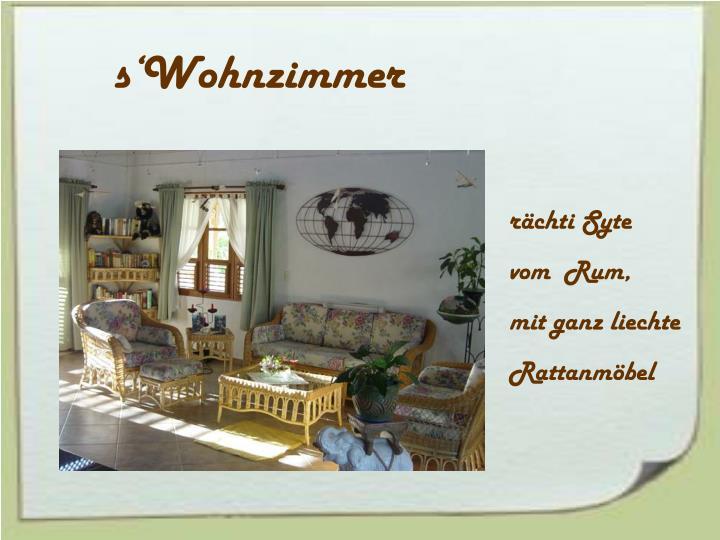 s'Wohnzimmer