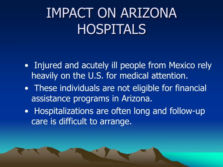 IMPACT ON ARIZONA HOSPITALS