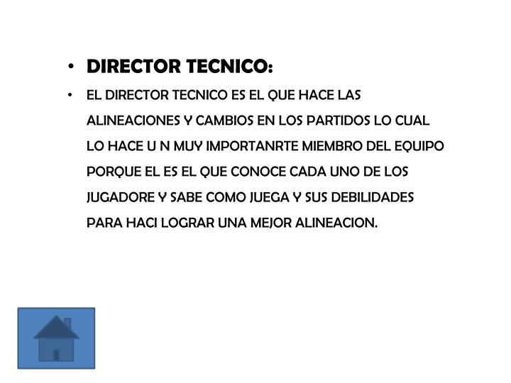 DIRECTOR TECNICO: