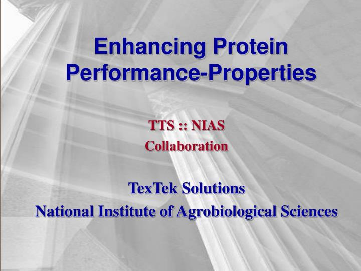 Enhancing protein performance properties