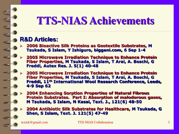 Tts nias achievements