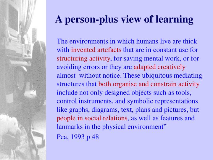 A person-plus view of learning