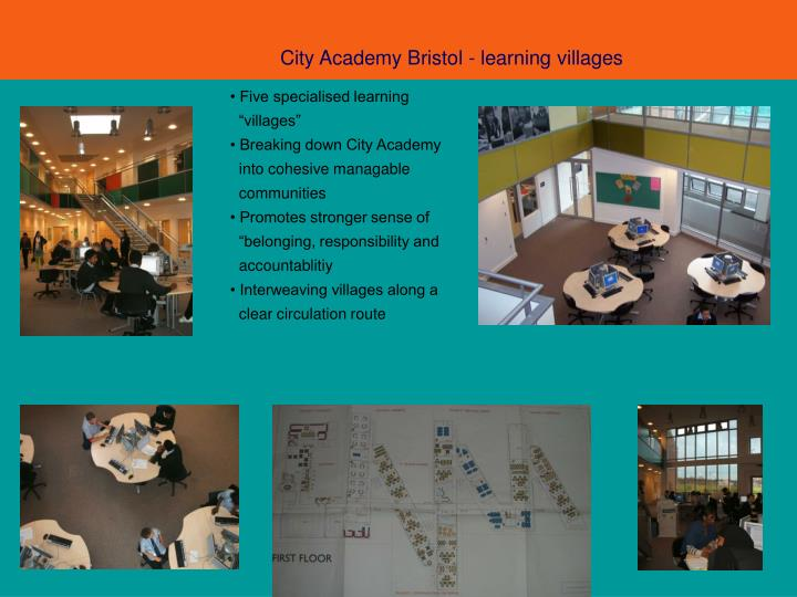 City Academy Bristol - learning villages