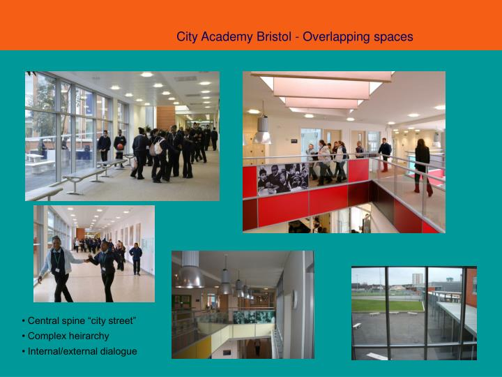 City Academy Bristol - Overlapping spaces
