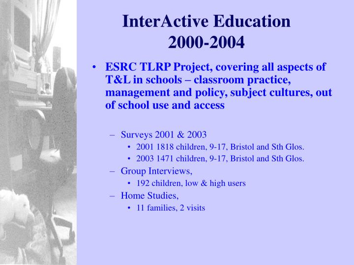 Interactive education 2000 2004