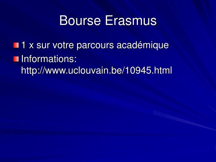Bourse Erasmus
